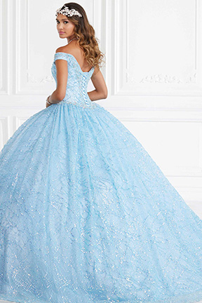 26944 House of Wu blue Cinderella Quinceanera gown