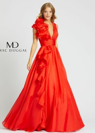 Mac Duggal Cherry Gown style 48856H