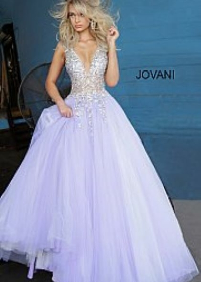 Jovani 65379 lilac gown