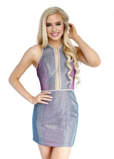 Vienna homecoming dress in violet style A60008
