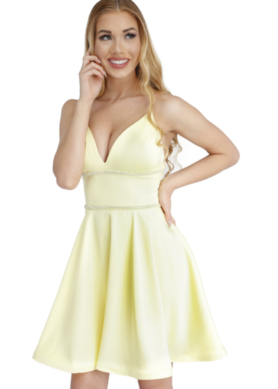 Vienna homecoming dress in yellow style A65001