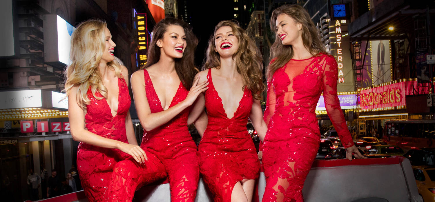 Jovani red sequined lace gown & pant suit